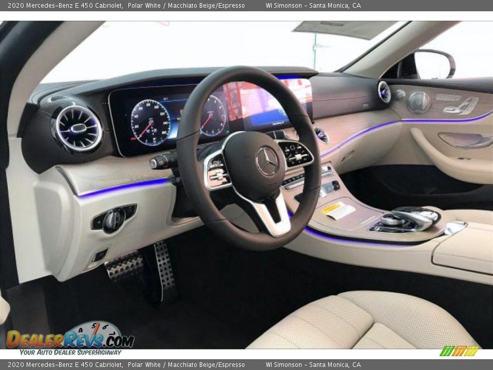 2020 Mercedes-Benz E 450 Cabriolet Polar White / Macchiato Beige/Espresso Photo #4