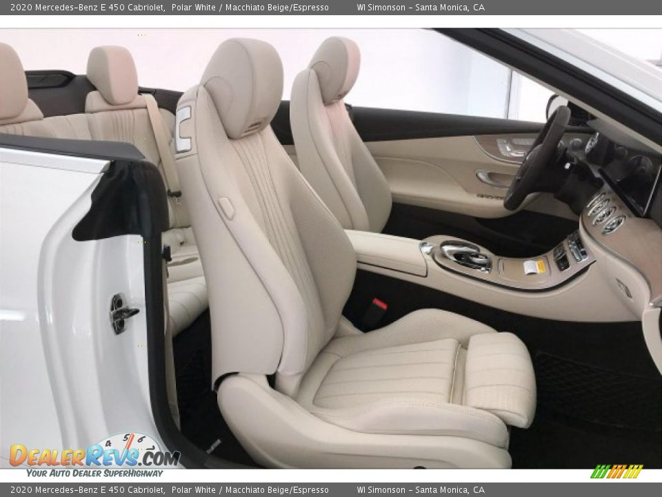 2020 Mercedes-Benz E 450 Cabriolet Polar White / Macchiato Beige/Espresso Photo #5