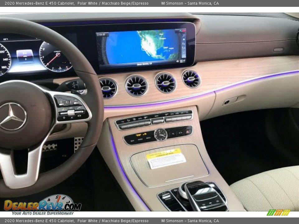2020 Mercedes-Benz E 450 Cabriolet Polar White / Macchiato Beige/Espresso Photo #6