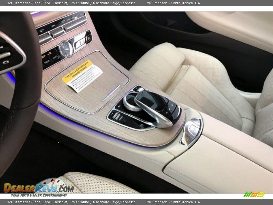2020 Mercedes-Benz E 450 Cabriolet Polar White / Macchiato Beige/Espresso Photo #7