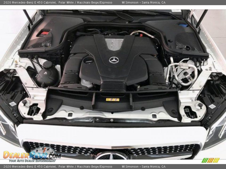2020 Mercedes-Benz E 450 Cabriolet Polar White / Macchiato Beige/Espresso Photo #8