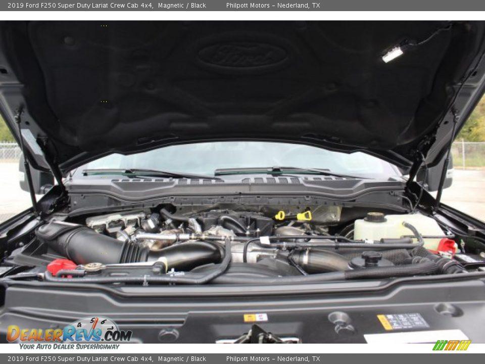 2019 Ford F250 Super Duty Lariat Crew Cab 4x4 Magnetic / Black Photo #23