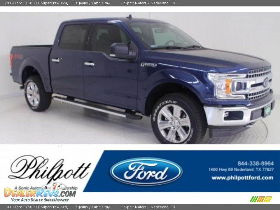 2019 Ford F150 XLT SuperCrew 4x4 Blue Jeans / Earth Gray Photo #1
