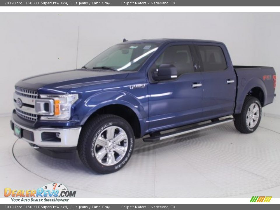 2019 Ford F150 XLT SuperCrew 4x4 Blue Jeans / Earth Gray Photo #3