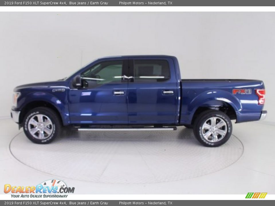 2019 Ford F150 XLT SuperCrew 4x4 Blue Jeans / Earth Gray Photo #4