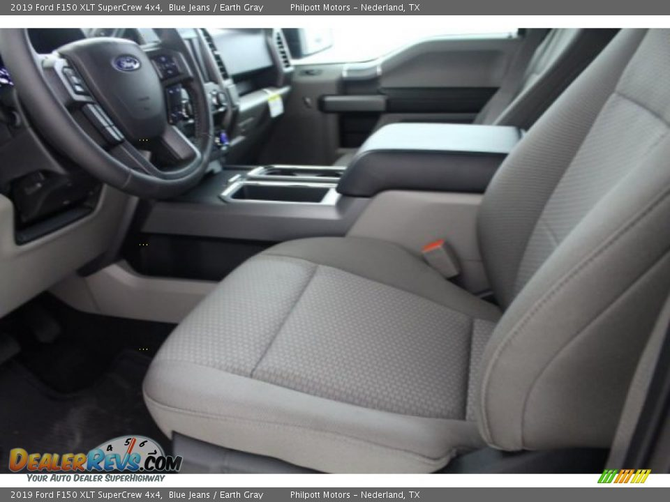 2019 Ford F150 XLT SuperCrew 4x4 Blue Jeans / Earth Gray Photo #10