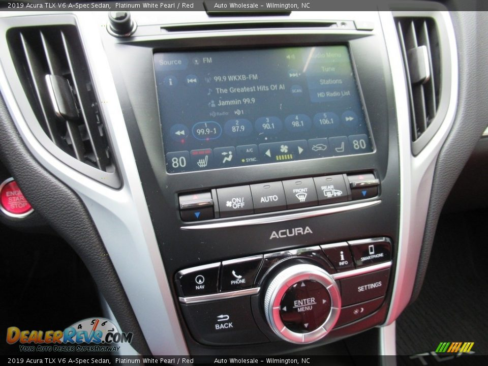 2019 Acura TLX V6 A-Spec Sedan Platinum White Pearl / Red Photo #17