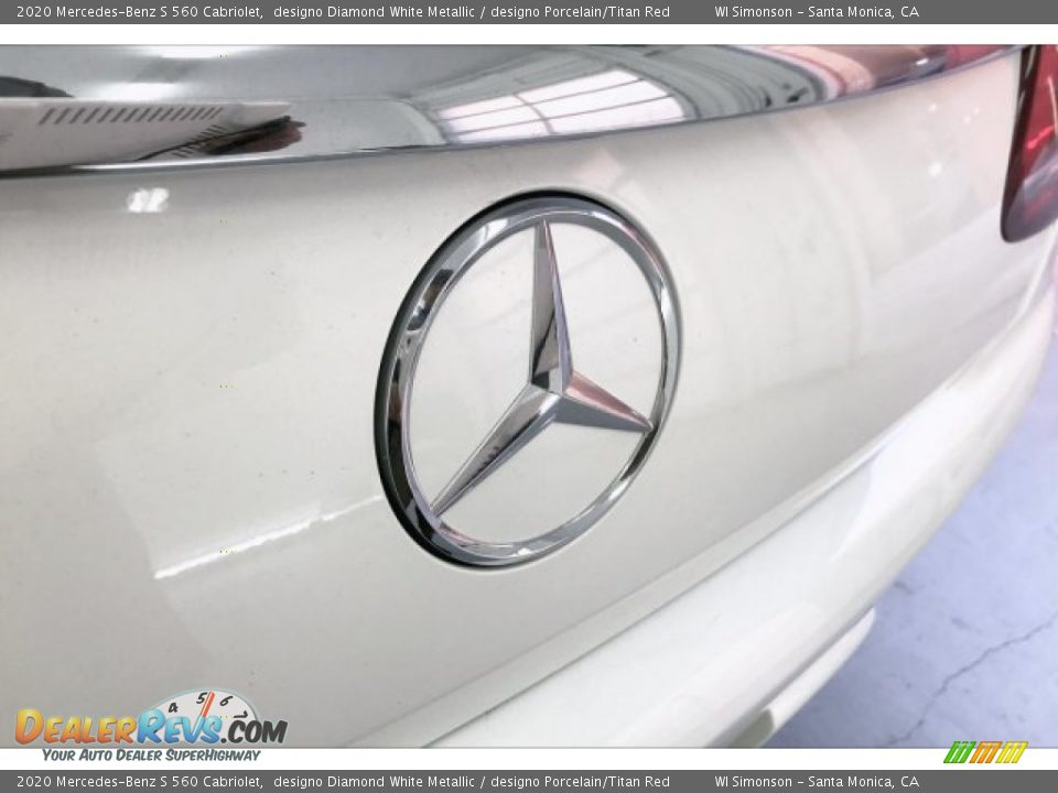 2020 Mercedes-Benz S 560 Cabriolet designo Diamond White Metallic / designo Porcelain/Titan Red Photo #7