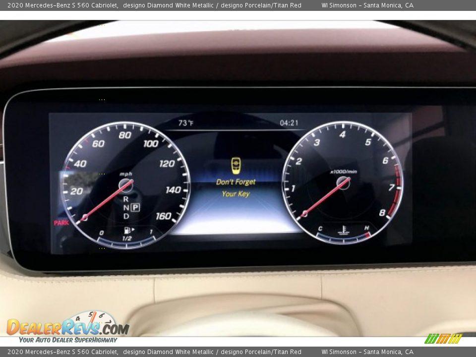 2020 Mercedes-Benz S 560 Cabriolet Gauges Photo #20