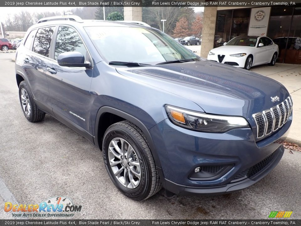 2019 Jeep Cherokee Latitude Plus 4x4 Blue Shade Pearl / Black/Ski Grey Photo #3