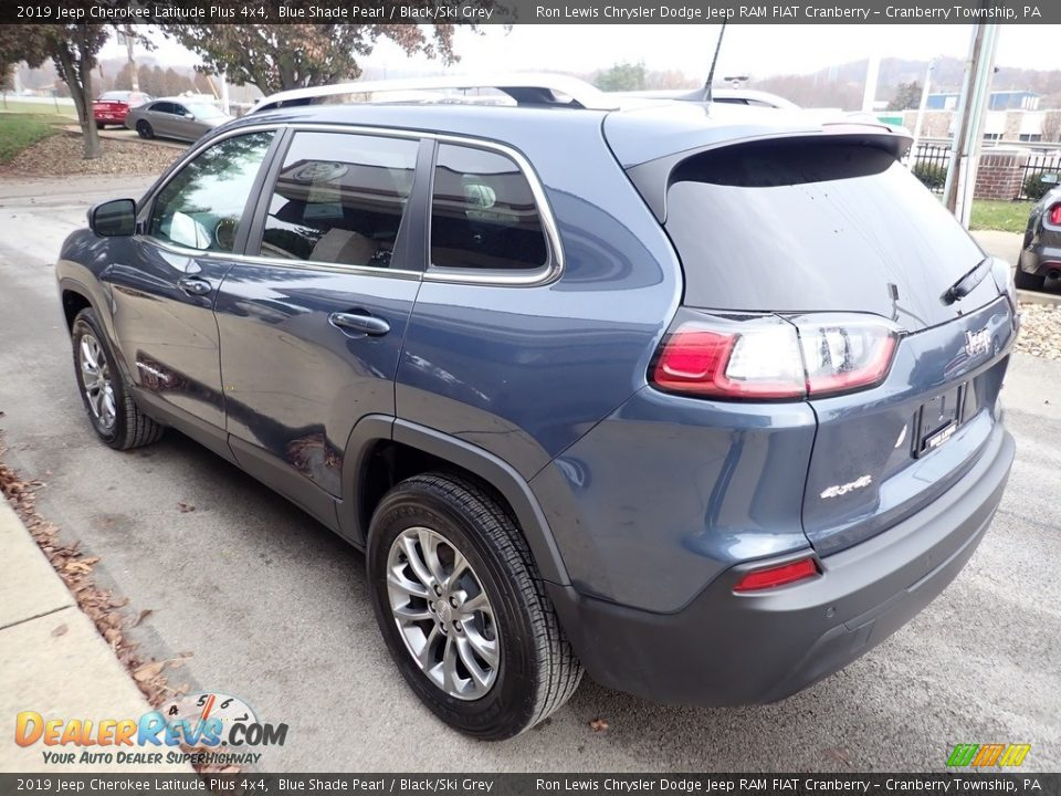 2019 Jeep Cherokee Latitude Plus 4x4 Blue Shade Pearl / Black/Ski Grey Photo #7