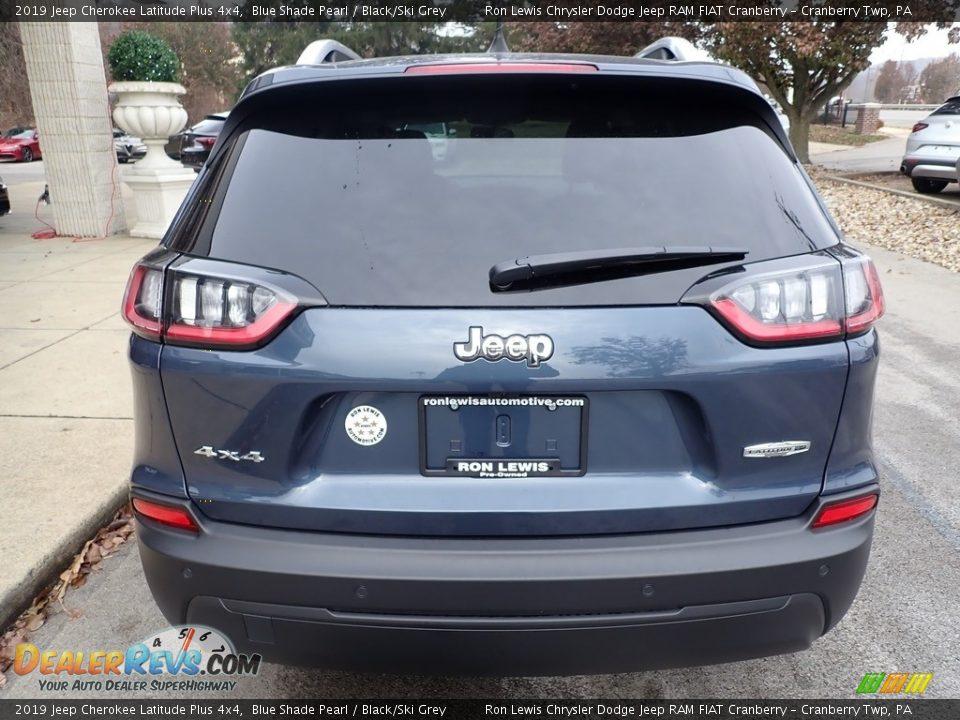 2019 Jeep Cherokee Latitude Plus 4x4 Blue Shade Pearl / Black/Ski Grey Photo #8