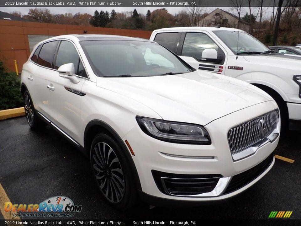 2019 Lincoln Nautilus Black Label AWD White Platinum / Ebony Photo #4