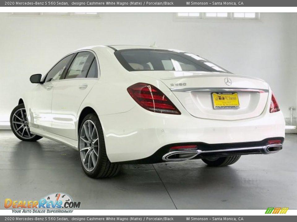 2020 Mercedes-Benz S 560 Sedan designo Cashmere White Magno (Matte) / Porcelain/Black Photo #2