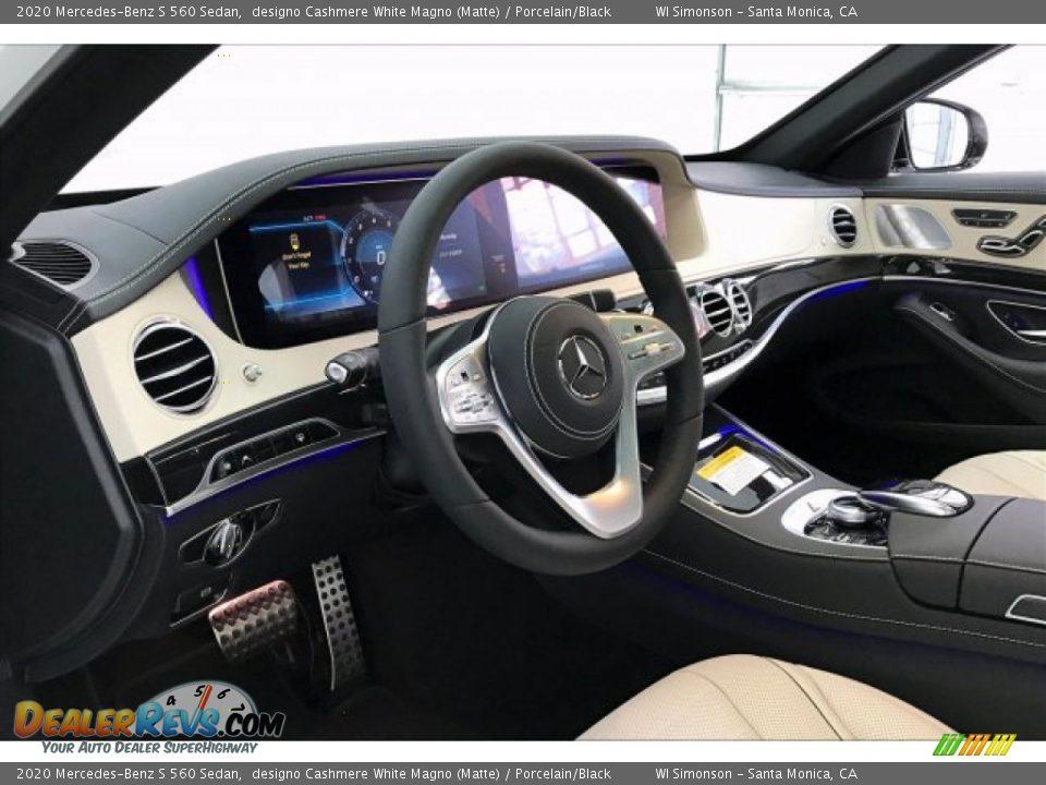 2020 Mercedes-Benz S 560 Sedan designo Cashmere White Magno (Matte) / Porcelain/Black Photo #4