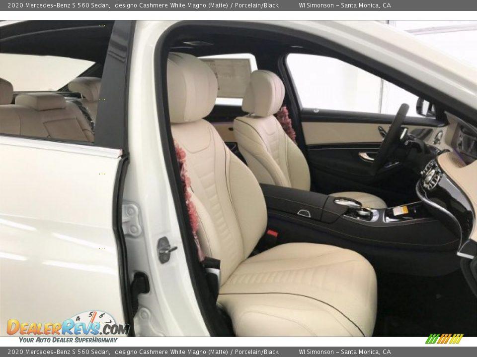 2020 Mercedes-Benz S 560 Sedan designo Cashmere White Magno (Matte) / Porcelain/Black Photo #5
