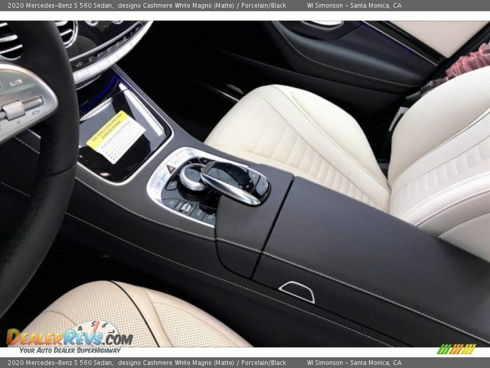 2020 Mercedes-Benz S 560 Sedan designo Cashmere White Magno (Matte) / Porcelain/Black Photo #7