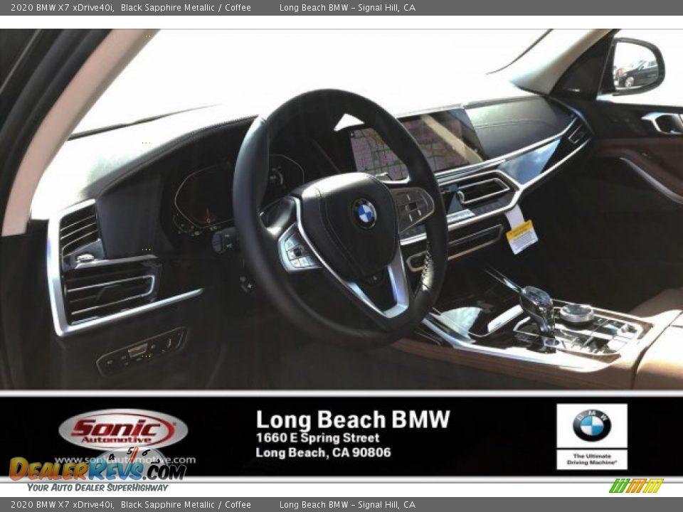 2020 BMW X7 xDrive40i Black Sapphire Metallic / Coffee Photo #4