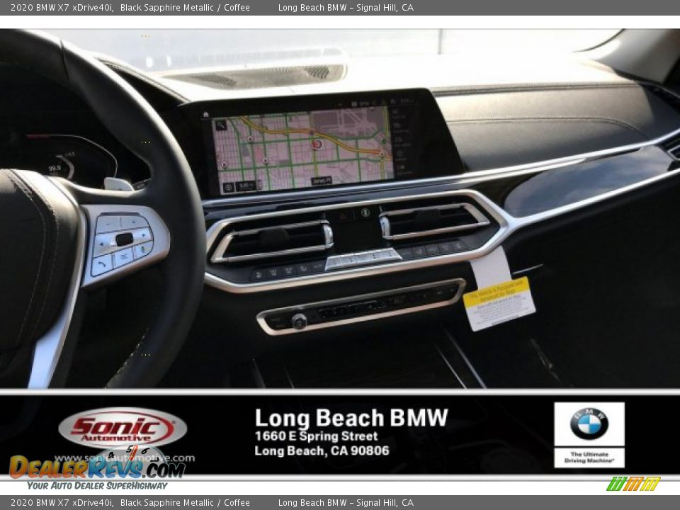 2020 BMW X7 xDrive40i Black Sapphire Metallic / Coffee Photo #5