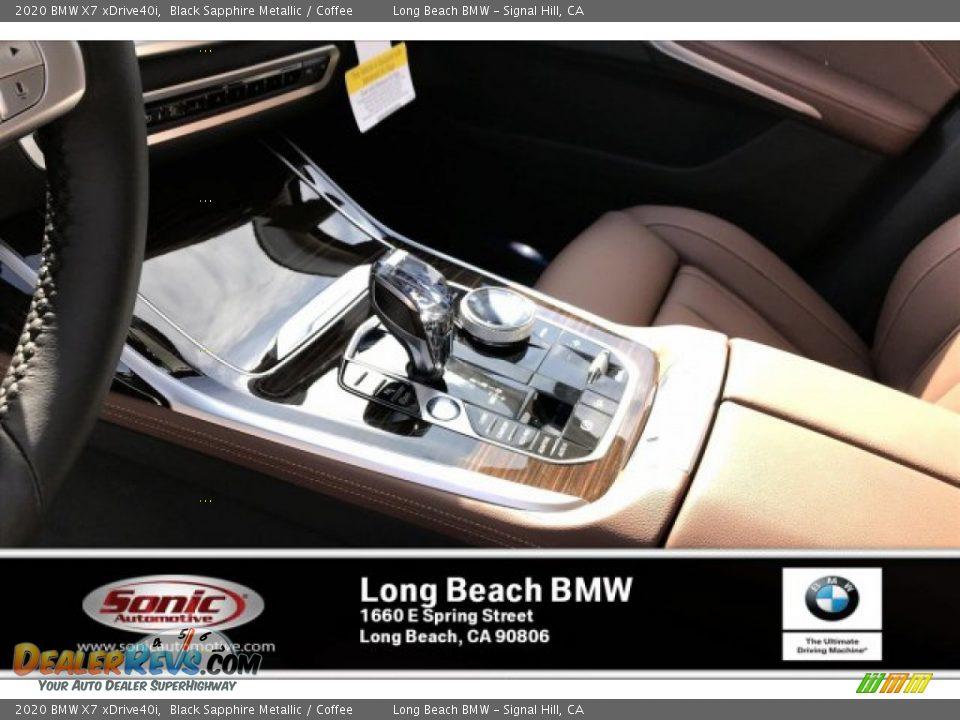 2020 BMW X7 xDrive40i Black Sapphire Metallic / Coffee Photo #6