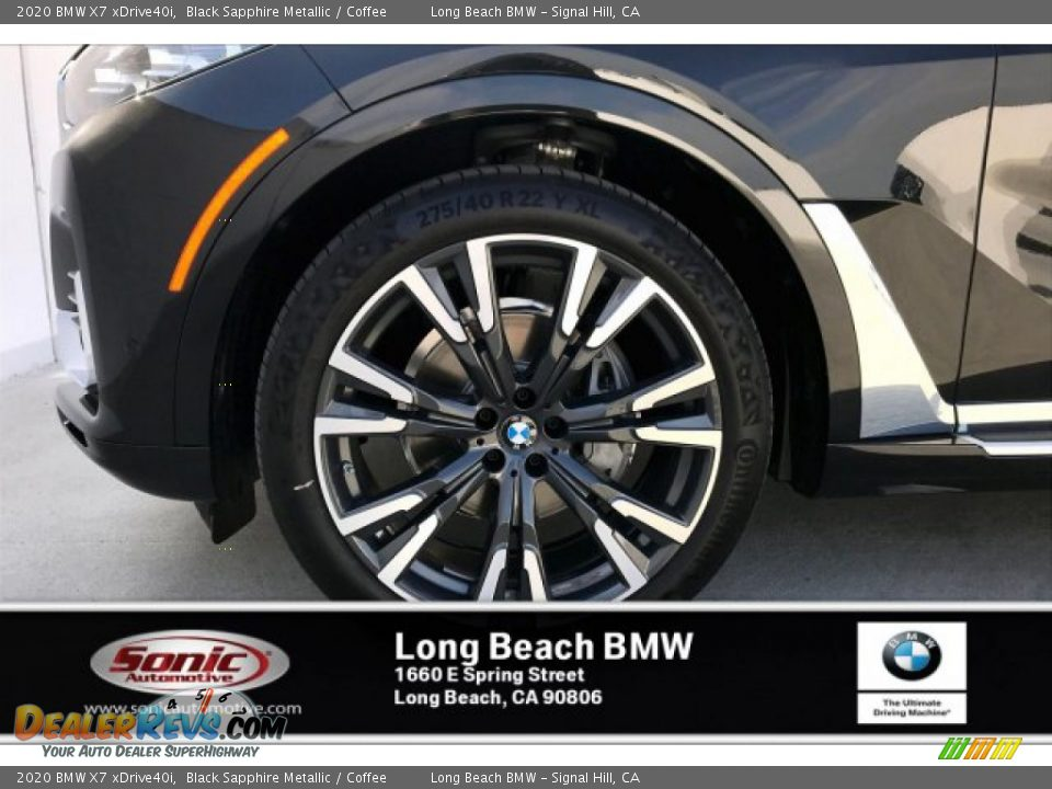 2020 BMW X7 xDrive40i Black Sapphire Metallic / Coffee Photo #9
