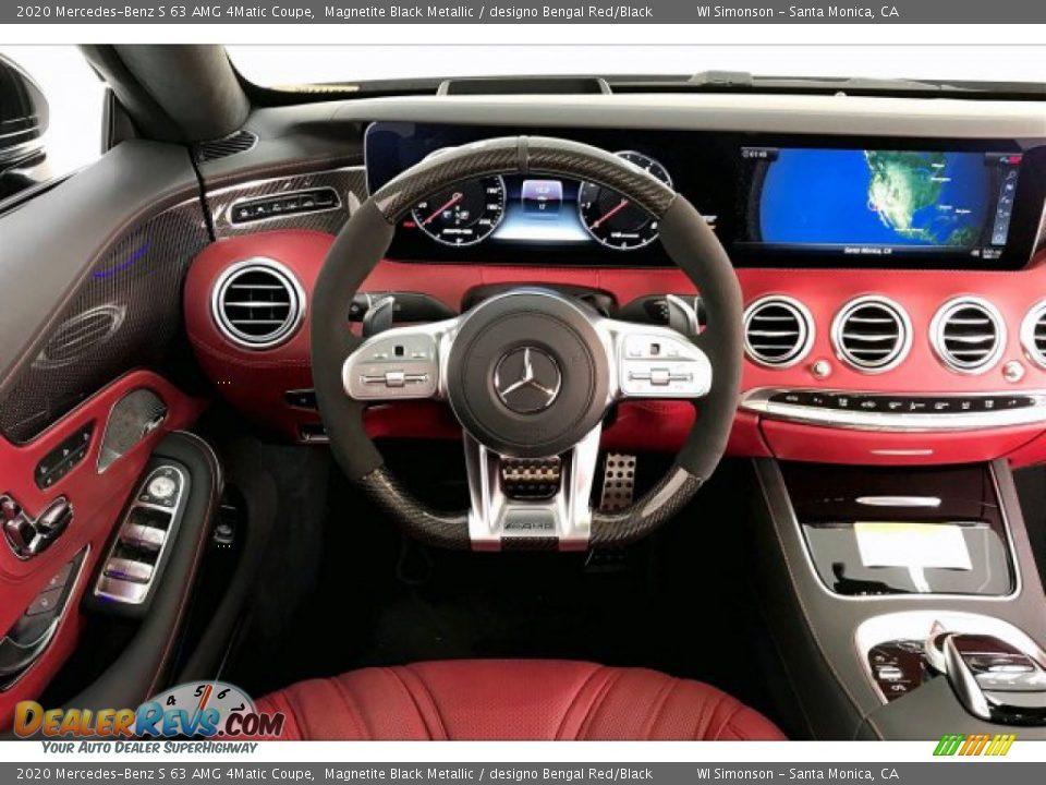 2020 Mercedes-Benz S 63 AMG 4Matic Coupe Magnetite Black Metallic / designo Bengal Red/Black Photo #4