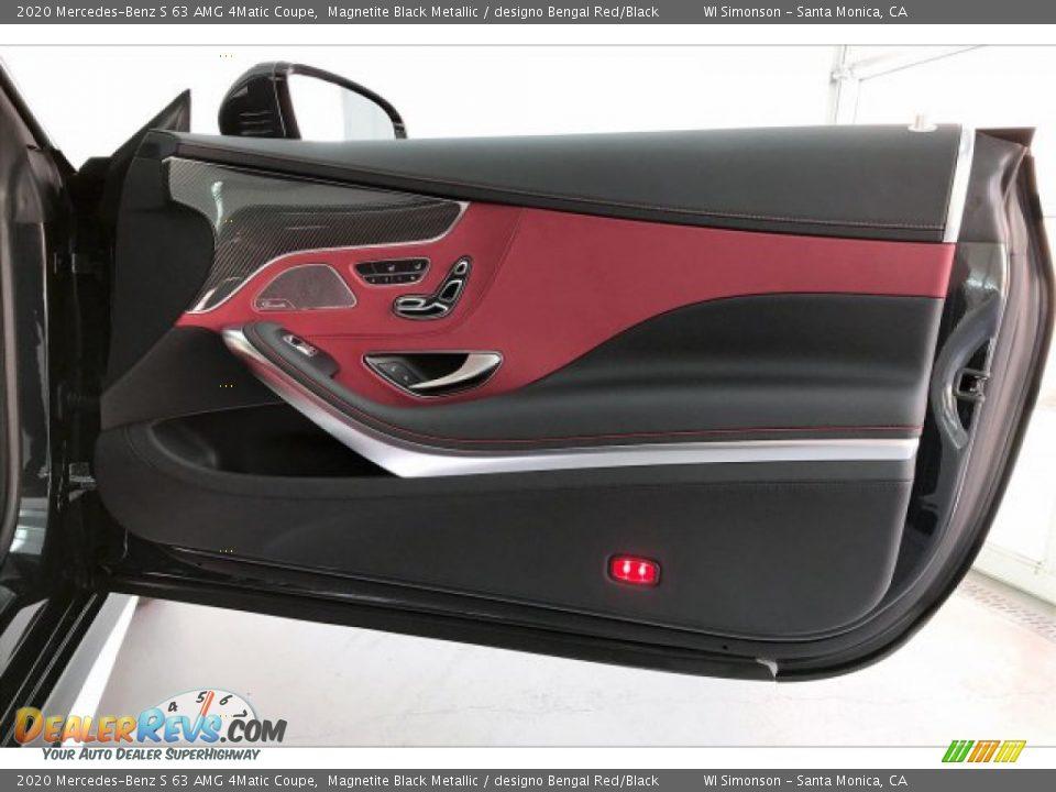 2020 Mercedes-Benz S 63 AMG 4Matic Coupe Magnetite Black Metallic / designo Bengal Red/Black Photo #30