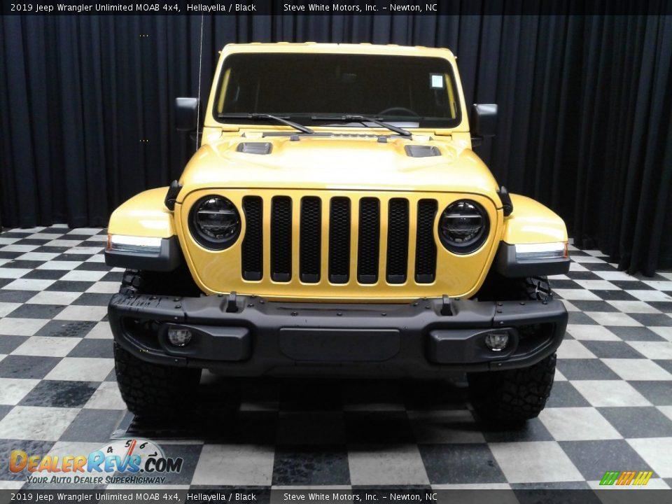 2019 Jeep Wrangler Unlimited MOAB 4x4 Hellayella / Black Photo #3