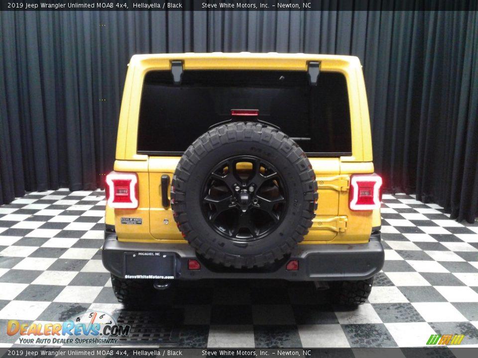 2019 Jeep Wrangler Unlimited MOAB 4x4 Hellayella / Black Photo #7