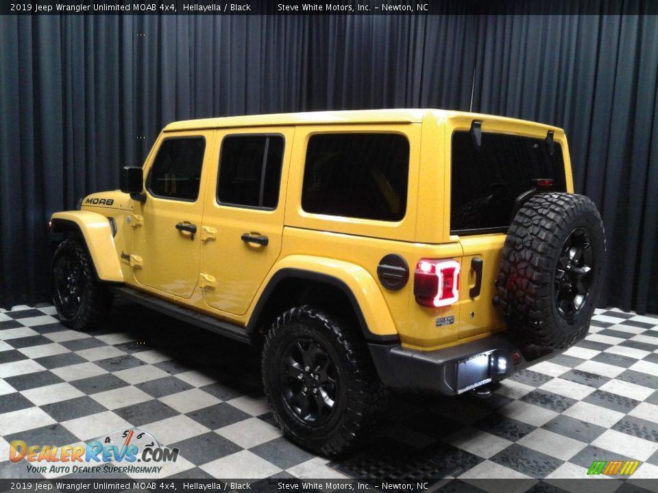 2019 Jeep Wrangler Unlimited MOAB 4x4 Hellayella / Black Photo #8