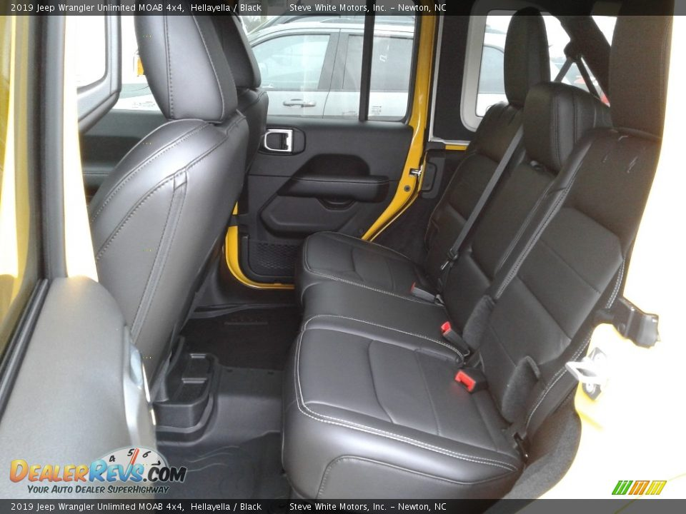 Rear Seat of 2019 Jeep Wrangler Unlimited MOAB 4x4 Photo #11