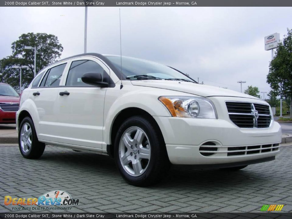 2008 Dodge Caliber Sxt Stone White Dark Slate Gray Photo