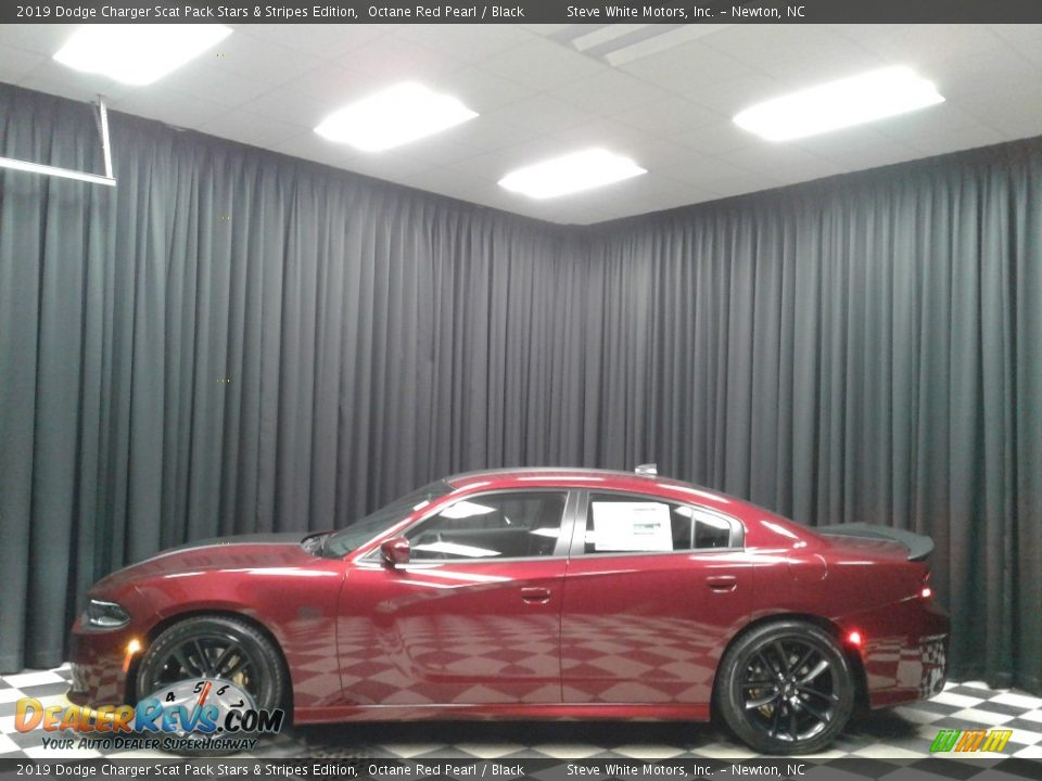 Octane Red Pearl 2019 Dodge Charger Scat Pack Stars & Stripes Edition Photo #1
