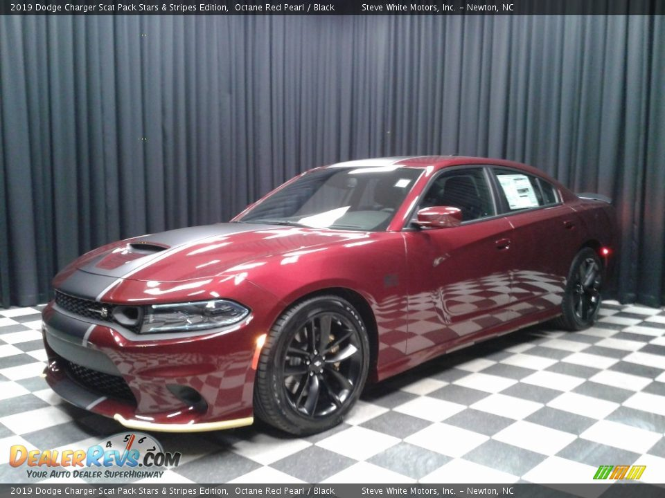 Octane Red Pearl 2019 Dodge Charger Scat Pack Stars & Stripes Edition Photo #2