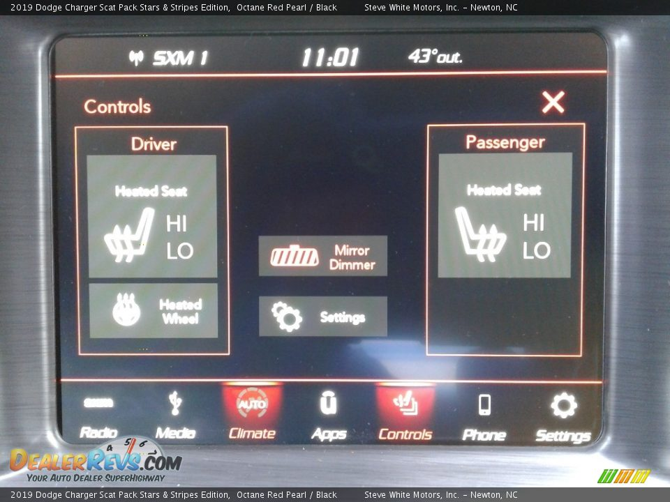 Controls of 2019 Dodge Charger Scat Pack Stars & Stripes Edition Photo #23