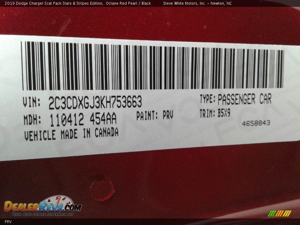 Dodge Color Code PRV Octane Red Pearl