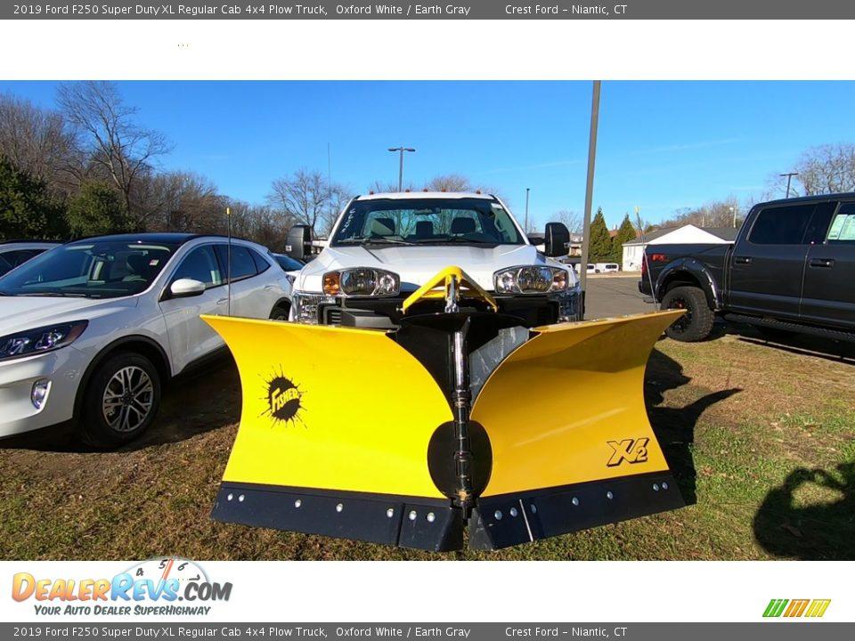 Oxford White 2019 Ford F250 Super Duty XL Regular Cab 4x4 Plow Truck Photo #2