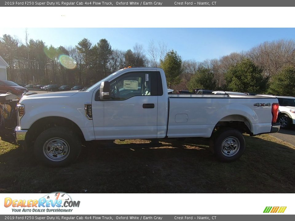Oxford White 2019 Ford F250 Super Duty XL Regular Cab 4x4 Plow Truck Photo #4