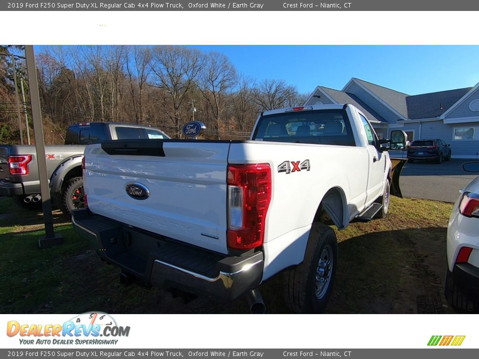 2019 Ford F250 Super Duty XL Regular Cab 4x4 Plow Truck Oxford White / Earth Gray Photo #7