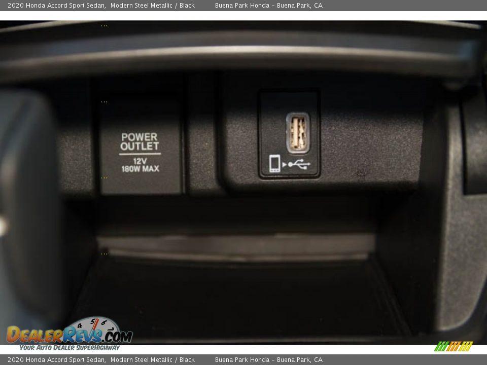 2020 Honda Accord Sport Sedan Modern Steel Metallic / Black Photo #26