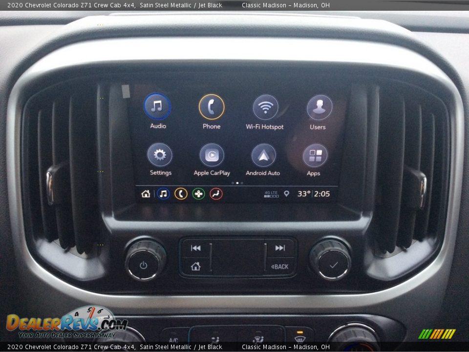2020 Chevrolet Colorado Z71 Crew Cab 4x4 Satin Steel Metallic / Jet Black Photo #15