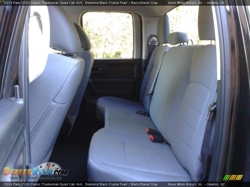 2019 Ram 1500 Classic Tradesman Quad Cab 4x4 Diamond Black Crystal Pearl / Black/Diesel Gray Photo #11