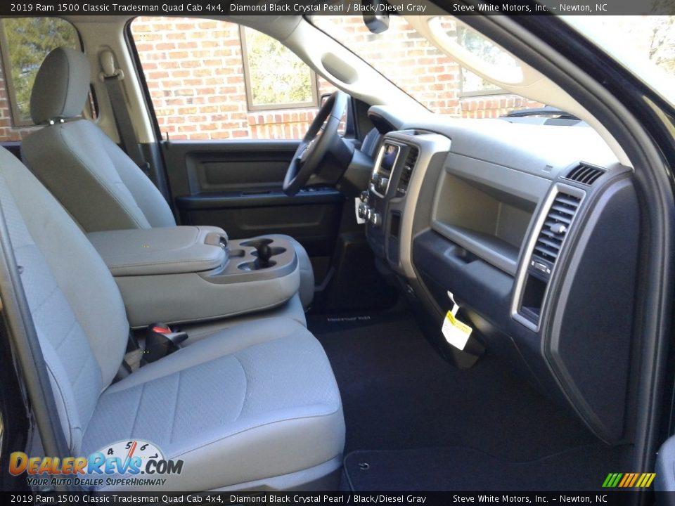 2019 Ram 1500 Classic Tradesman Quad Cab 4x4 Diamond Black Crystal Pearl / Black/Diesel Gray Photo #14