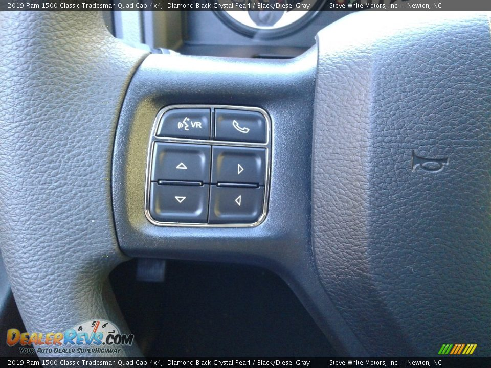 2019 Ram 1500 Classic Tradesman Quad Cab 4x4 Diamond Black Crystal Pearl / Black/Diesel Gray Photo #15