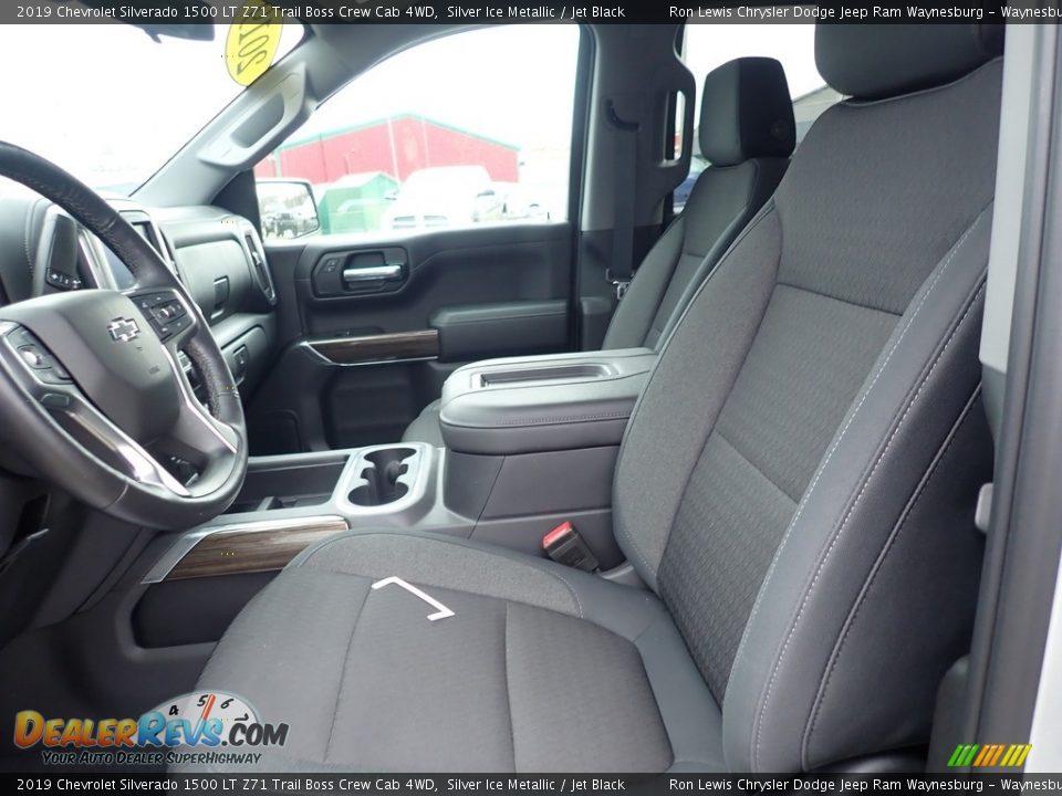 Front Seat of 2019 Chevrolet Silverado 1500 LT Z71 Trail Boss Crew Cab 4WD Photo #13