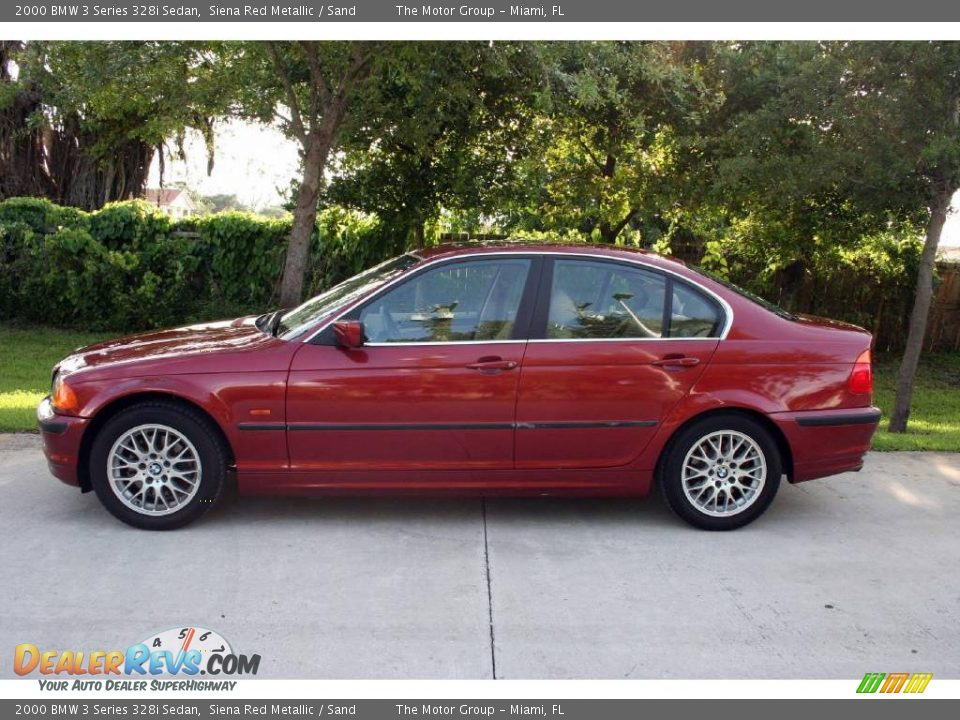 2000 bmw 3 series 328i sedan siena red metallic sand photo 4. Black Bedroom Furniture Sets. Home Design Ideas