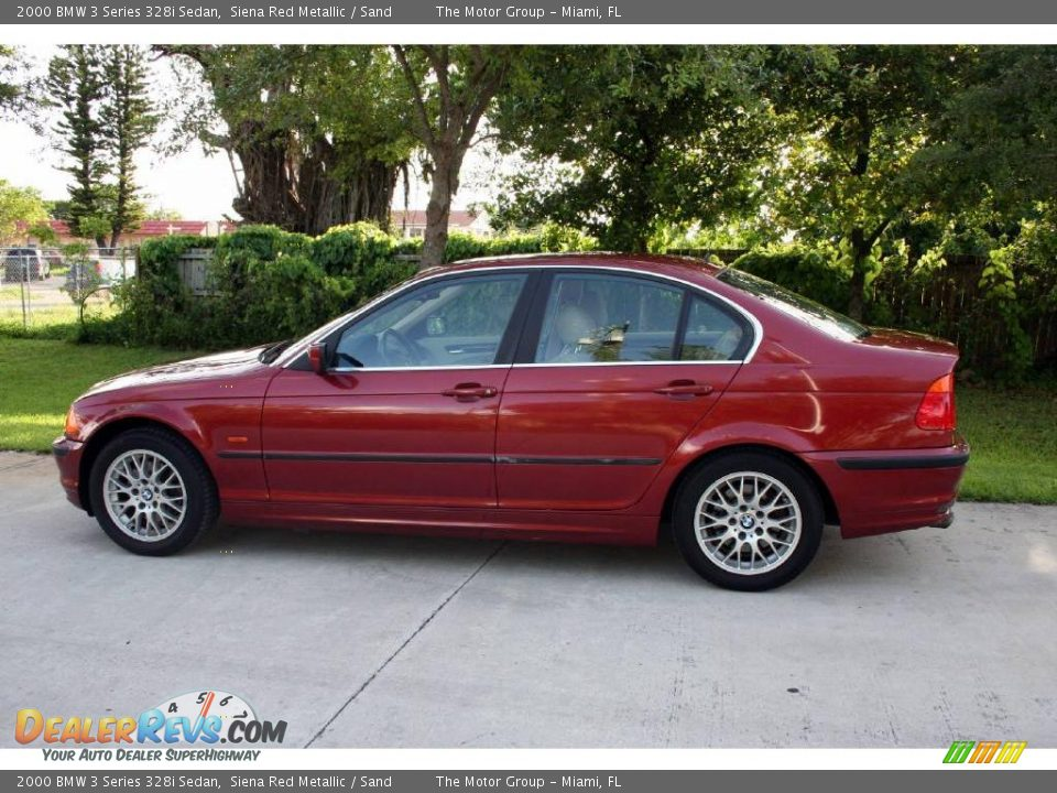 2000 bmw 3 series 328i sedan siena red metallic sand photo 5. Black Bedroom Furniture Sets. Home Design Ideas