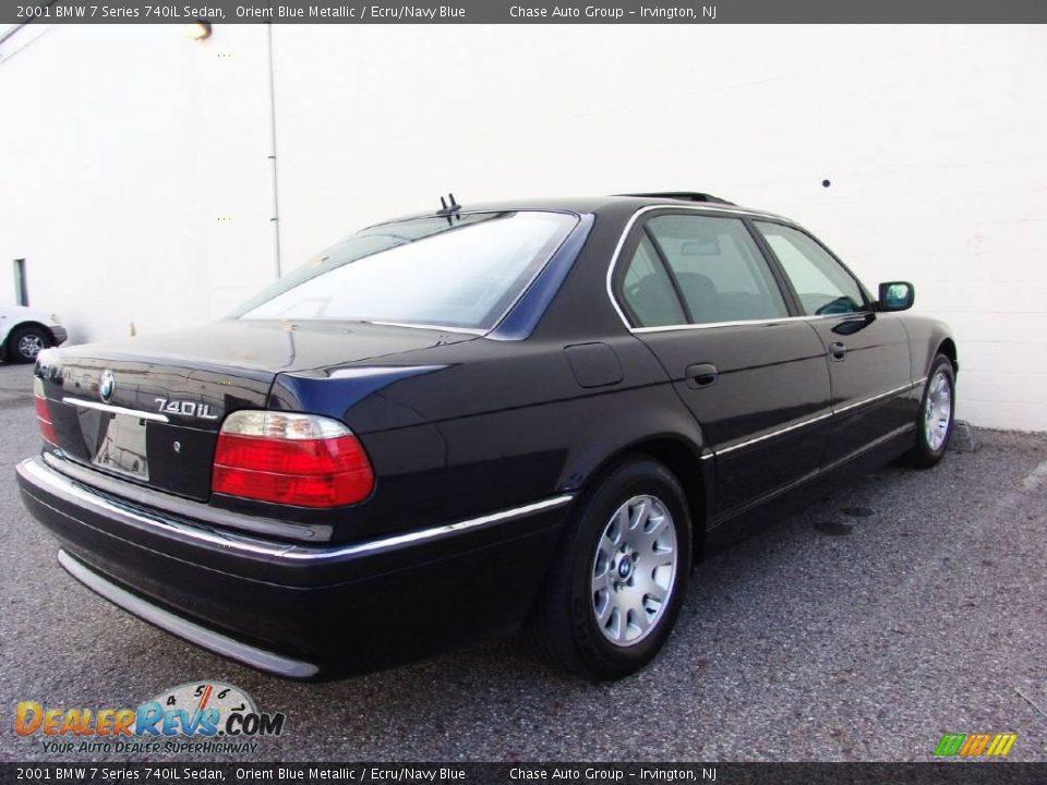 2001 bmw 7 series 740il sedan orient blue metallic ecru. Black Bedroom Furniture Sets. Home Design Ideas