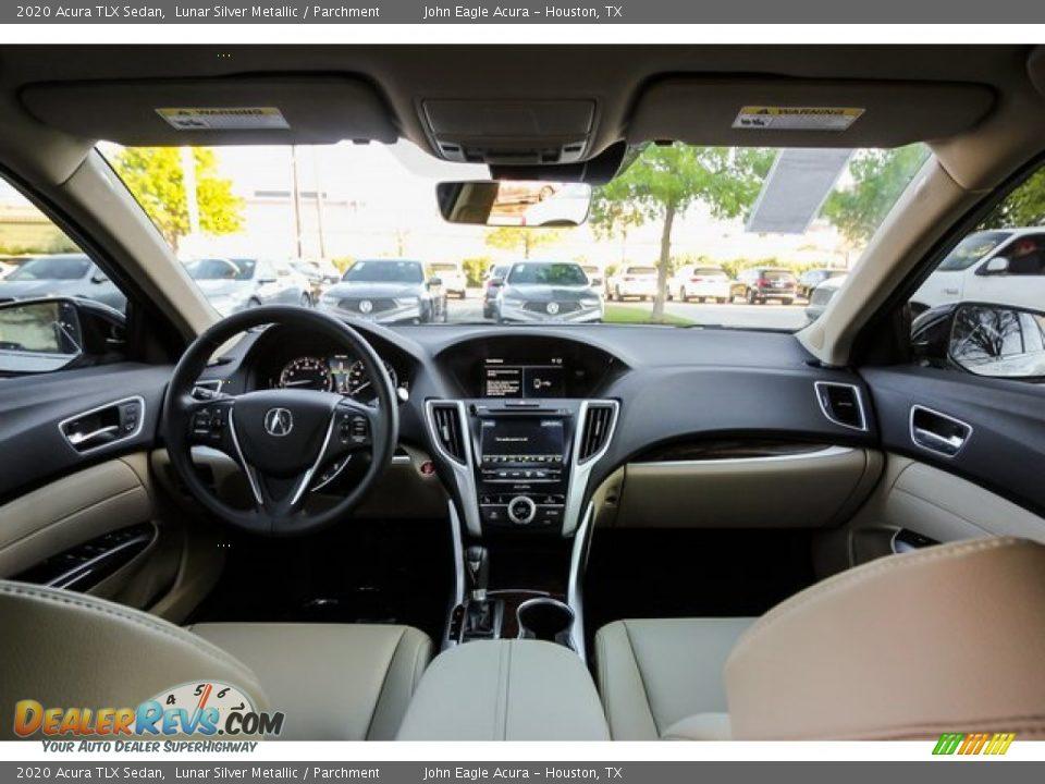 2020 Acura TLX Sedan Lunar Silver Metallic / Parchment Photo #9