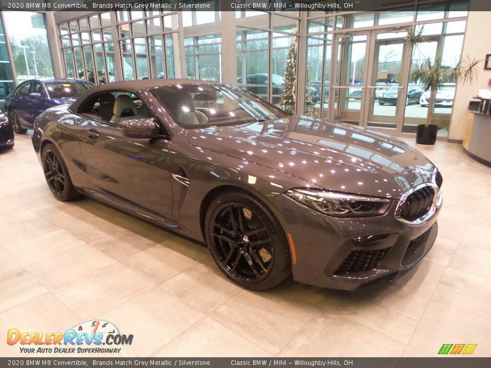 2020 BMW M8 Convertible Brands Hatch Grey Metallic / Silverstone Photo #1
